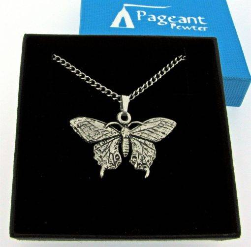 Butterfly Pendant - high quality pewter gifts from Pageant Pewter