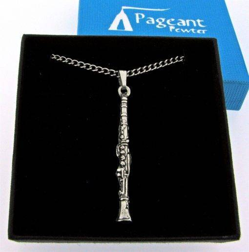 Clarinet Pendant - high quality pewter gifts from Pageant Pewter