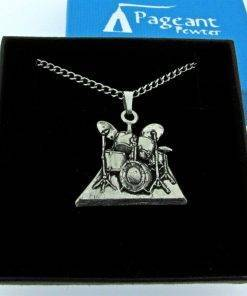 Drums Pendant - high quality pewter gifts from Pageant Pewter