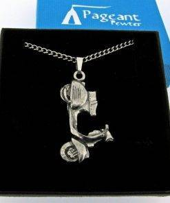 Scooter V Pendant - high quality pewter gifts from Pageant Pewter