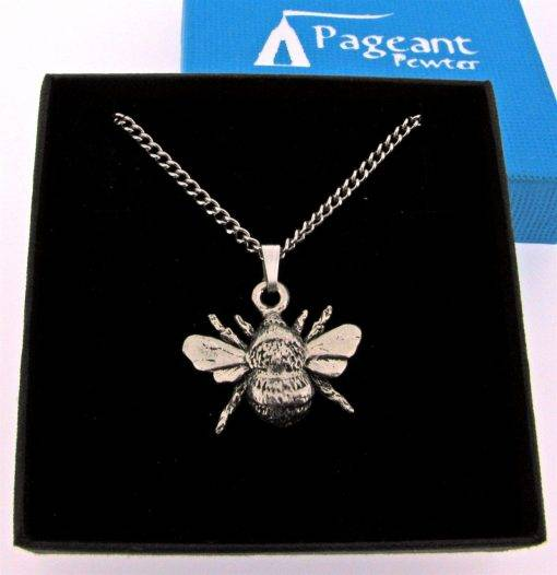 Bee Pendant - high quality pewter gifts from Pageant Pewter