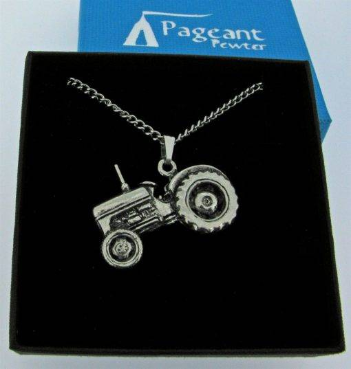 Tractor Pendant - high quality pewter gifts from Pageant Pewter
