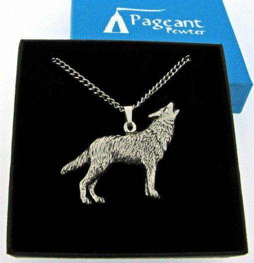 Wolf Pendant - high quality pewter gifts from Pageant Pewter