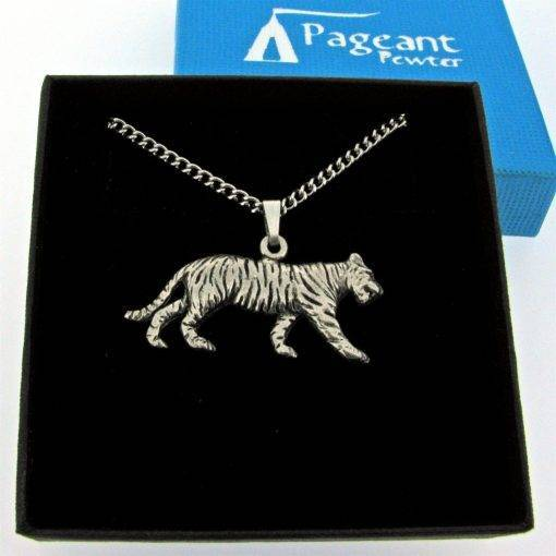 Tiger Pendant - high quality pewter gifts from Pageant Pewter