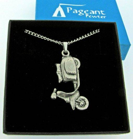 Scooter L Pendant - high quality pewter gifts from Pageant Pewter