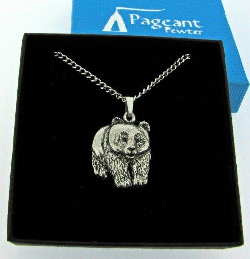 Panda Pendant - high quality pewter gifts from Pageant Pewter