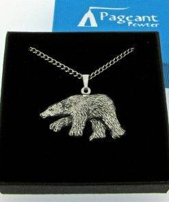 Polar Bear Pendant - high quality pewter gifts from Pageant Pewter