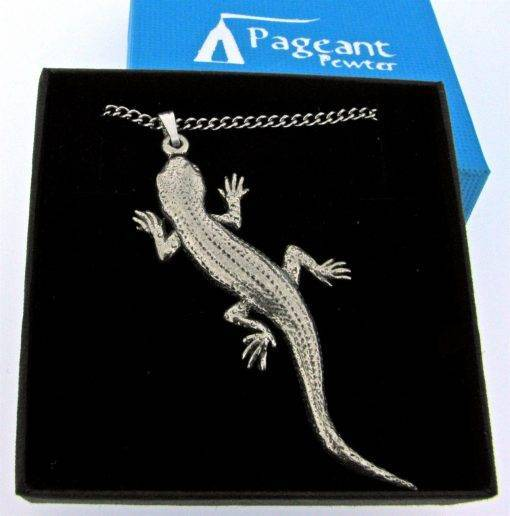 Lizard (Gecko) Pendant - high quality pewter gifts from Pageant Pewter
