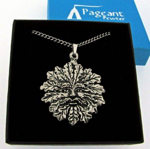 Green Man Pendant - high quality pewter gifts from Pageant Pewter