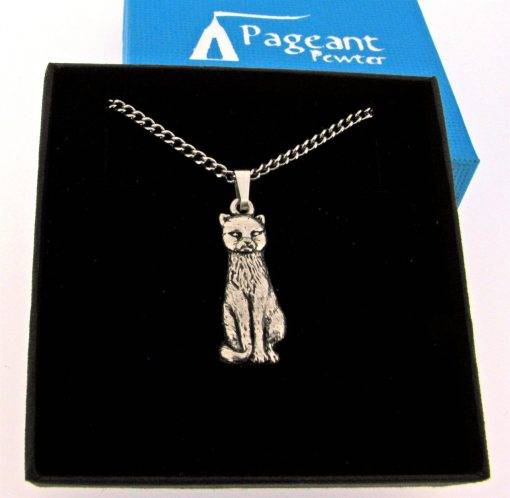 Cat Pendant - high quality pewter gifts from Pageant Pewter