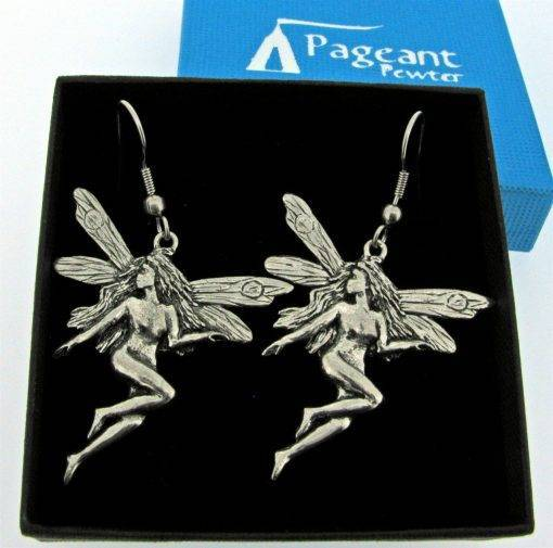 Large Fairy Earrings - high quality pewter gifts from Pageant Pewter
