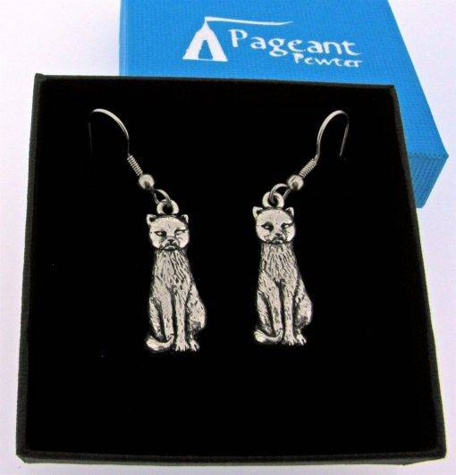 Cat Earrings - high quality pewter gifts from Pageant Pewter