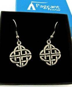 Celtic Knot Earrings - high quality pewter gifts from Pageant Pewter