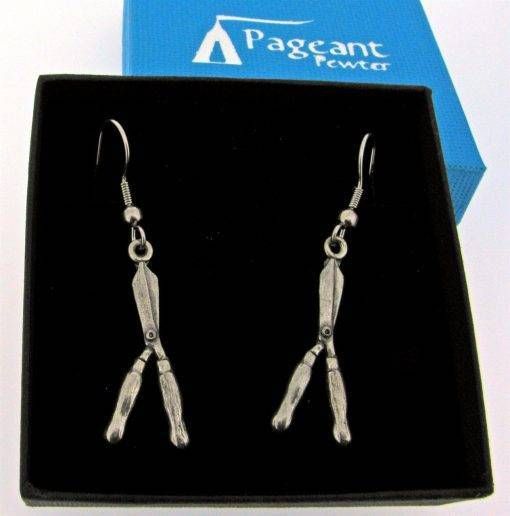 Garden Shears Earrings - high quality pewter gifts from Pageant Pewter