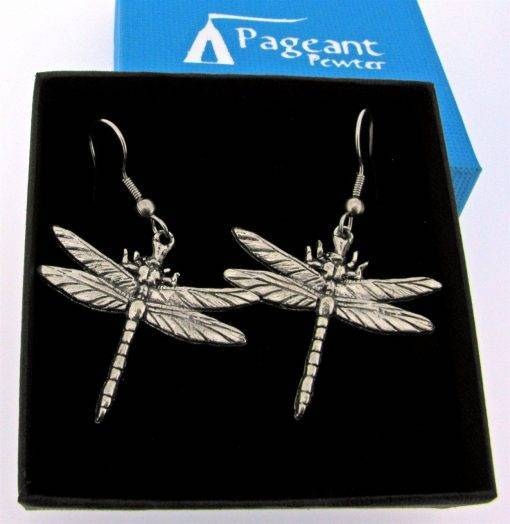 Dragonfly Earrings - high quality pewter gifts from Pageant Pewter