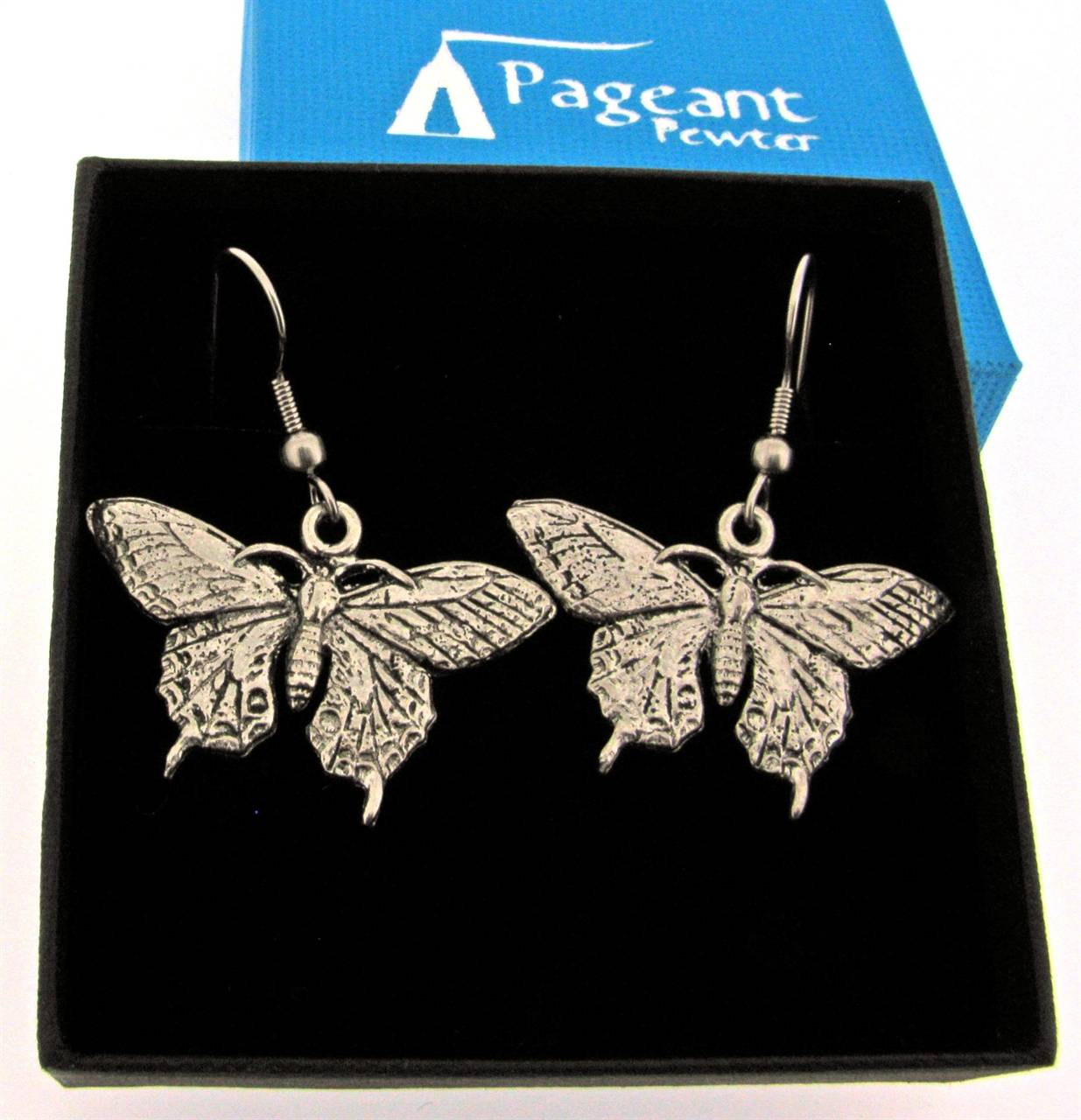Butterfly Earrings - high quality pewter gifts from Pageant Pewter