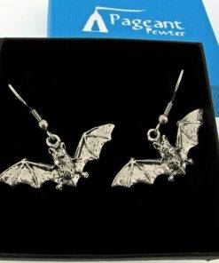 Bat Earrings - high quality pewter gifts from Pageant Pewter