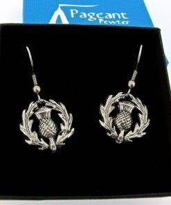 Thistle Earrings - high quality pewter gifts from Pageant Pewter