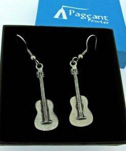 Spanish Guitar Earrings - high quality pewter gifts from Pageant Pewter