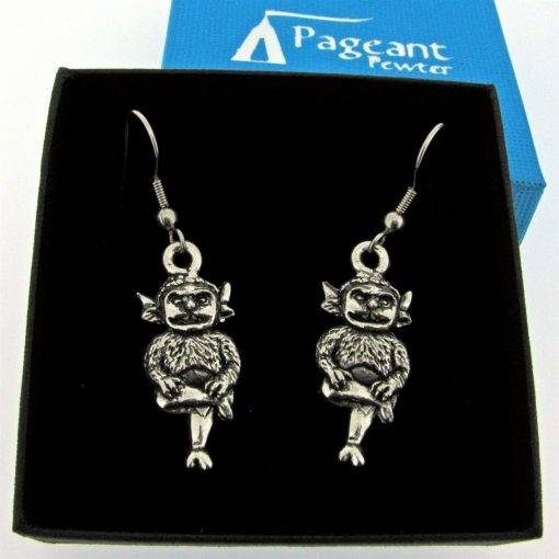 Lincoln Imp Earrings - high quality pewter gifts from Pageant Pewter