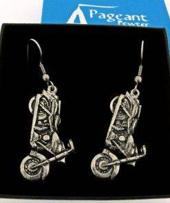 Motorbike Earrings - high quality pewter gifts from Pageant Pewter