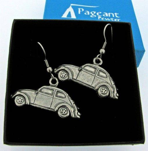 Classic Car VWB Earrings - high quality pewter gifts from Pageant Pewter
