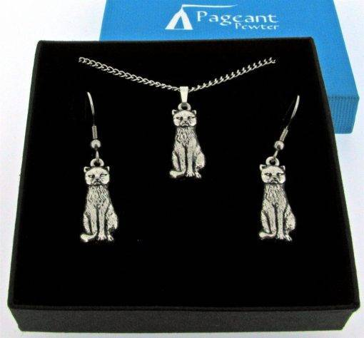 Cat Jewellery Gift Set - high quality pewter gifts from Pageant Pewter