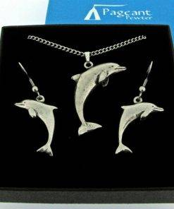 Dolphin Jewellery Gift Set - high quality pewter gifts from Pageant Pewter