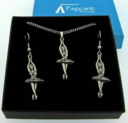 Ballerina Jewellery Gift Set - high quality pewter gifts from Pageant Pewter