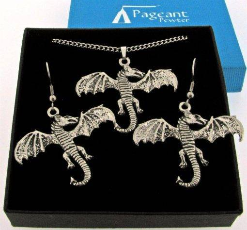 Dragon Jewellery Gift Set - high quality pewter gifts from Pageant Pewter