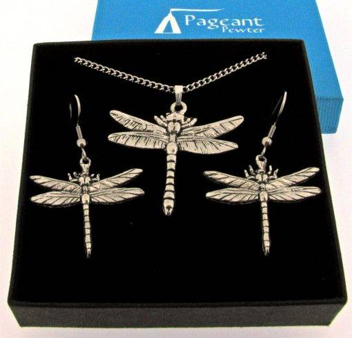 Dragonfly Jewellery Gift Set - high quality pewter gifts from Pageant Pewter