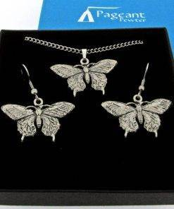 Butterfly Jewellery Gift Set - high quality pewter gifts from Pageant Pewter
