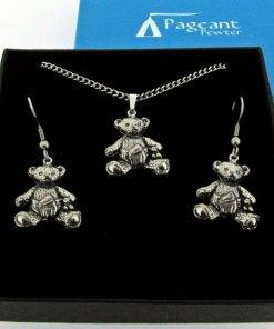 Teddy Jewellery Gift Set - high quality pewter gifts from Pageant Pewter