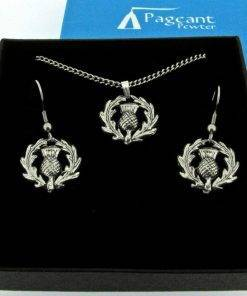 Thistle Jewellery Gift Set - high quality pewter gifts from Pageant Pewter