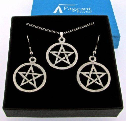 Pentangle Jewellery Gift Set - high quality pewter gifts from Pageant Pewter