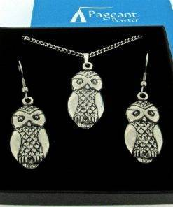Owl Jewellery Gift Set - high quality pewter gifts from Pageant Pewter