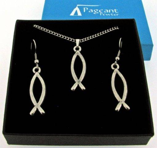 Christian Fish Jewellery Gift Set - high quality pewter gifts from Pageant Pewter