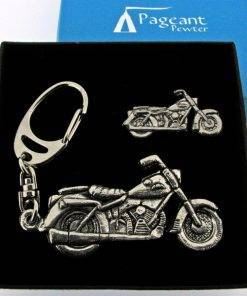Motorbike Keyring Gift Set - high quality pewter gifts from Pageant Pewter
