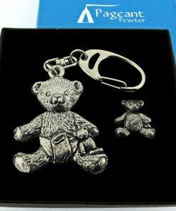 Teddy Keyring Gift Set - high quality pewter gifts from Pageant Pewter