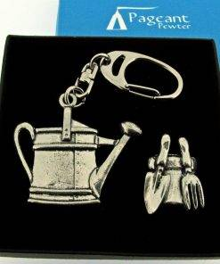 Gardening Keyring Gift Set - high quality pewter gifts from Pageant Pewter