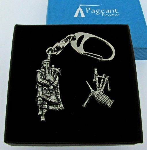 Piper Keyring Gift Set - high quality pewter gifts from Pageant Pewter