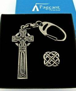 Celtic Keyring Gift Set - high quality pewter gifts from Pageant Pewter
