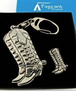 Cowby Boot Keyring Gift Set - high quality pewter gifts from Pageant Pewter