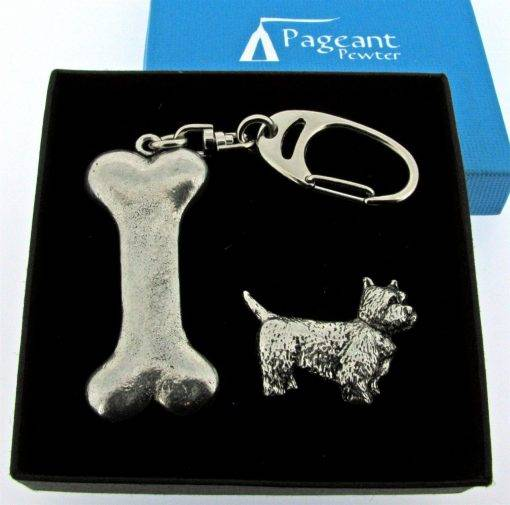 Dog's Bone Keyring Gift Set - high quality pewter gifts from Pageant Pewter