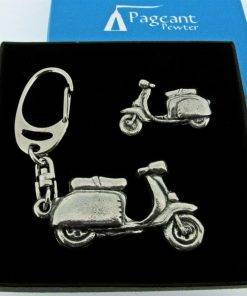 Scooter L Keyring Gift Set - high quality pewter gifts from Pageant Pewter