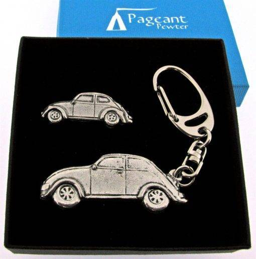 Classic Car VWB Keyring Gift Set - high quality pewter gifts from Pageant Pewter