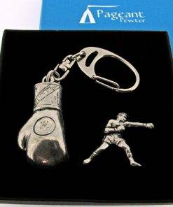 Boxing Keyring Gift Set - high quality pewter gifts from Pageant Pewter