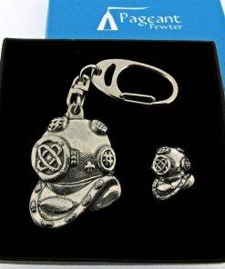 Diving Keyring Gift Set - high quality pewter gifts from Pageant Pewter