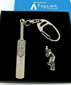 Cricket Keyring Gift Set - high quality pewter gifts from Pageant Pewter