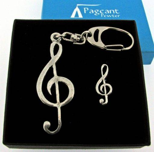 Music Keyring Gift Set - high quality pewter gifts from Pageant Pewter